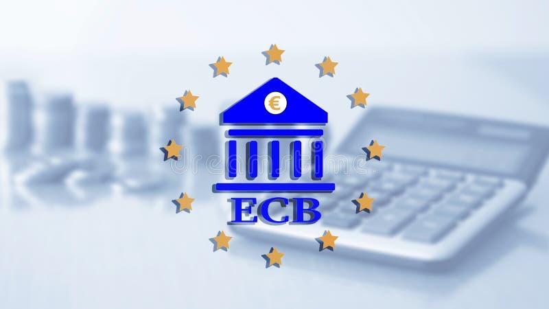 bank centrala - europejczyk ECB Finansowy kapitałowy bankowość i inwestycji pojęcie ilustracja wektor