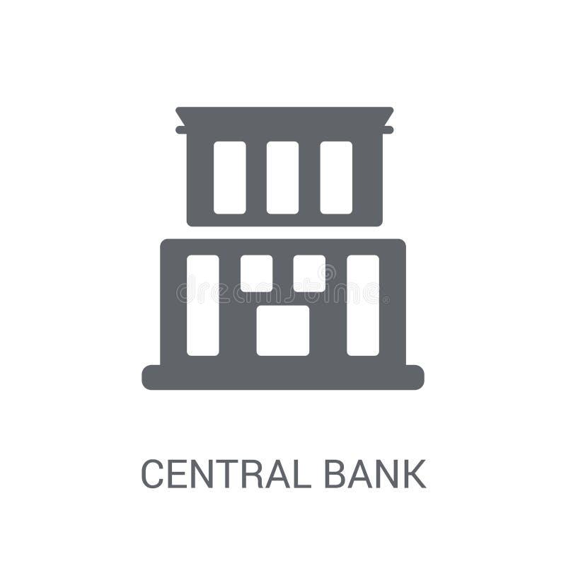 Bank centralny ikona  ilustracji