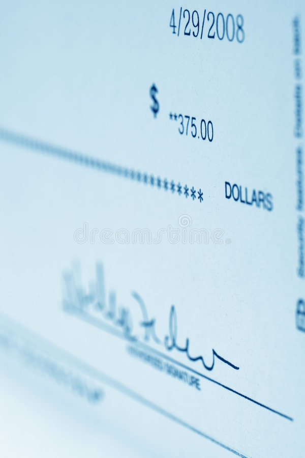 Bank check stock images