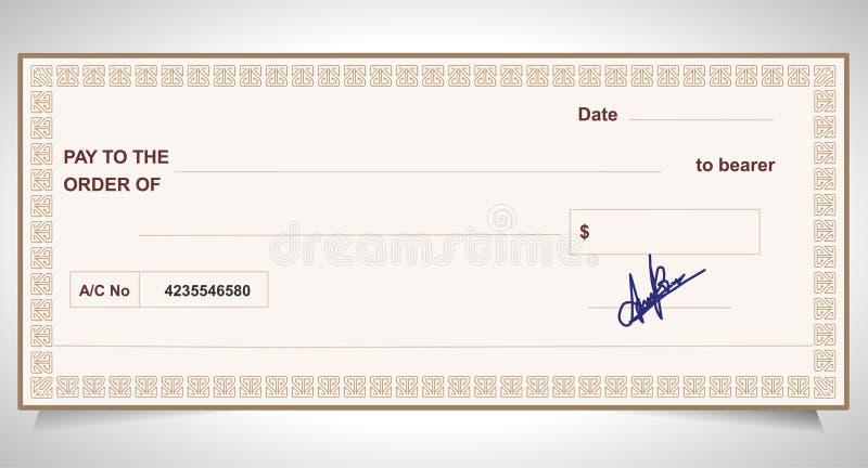 BANK CHECK, bank cheque. Created BANK CHECK, bank cheque - Vector eps10