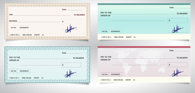BANK CHECK, bank cheque - Vector eps10. Created BANK CHECK, bank cheque - Vector eps10