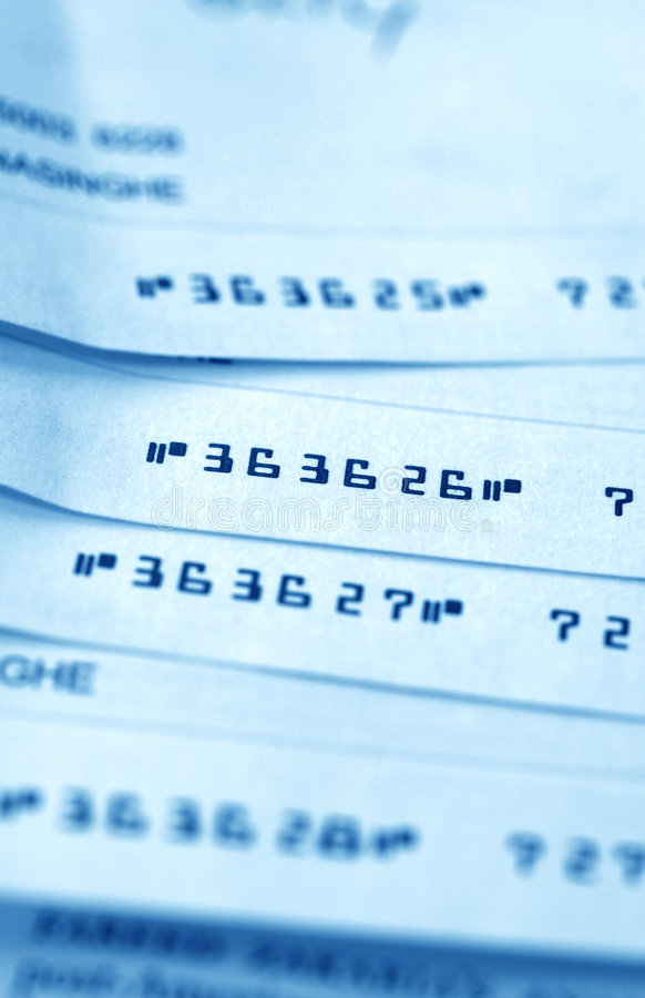 Download Bank Checks Stock Photo - Image: 7449320