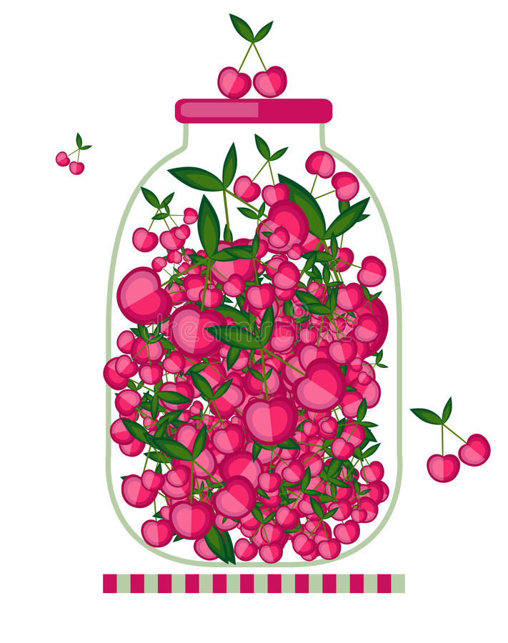 Download Bank With Cherry Jam For Your Design Stock Vector - Image: 25164174