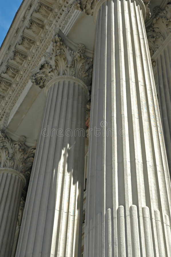 Bank Columns royalty free stock photo