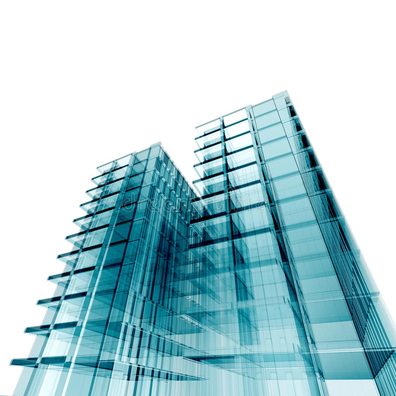 Bank conceptual building stock illustration