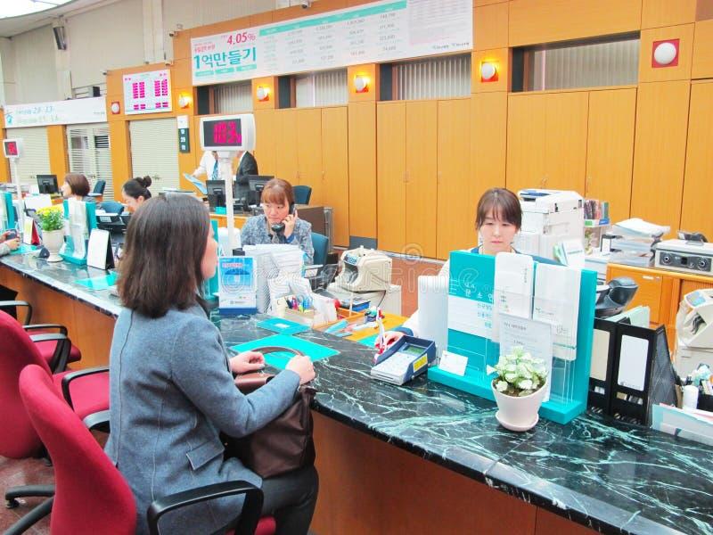 Bank counter service work