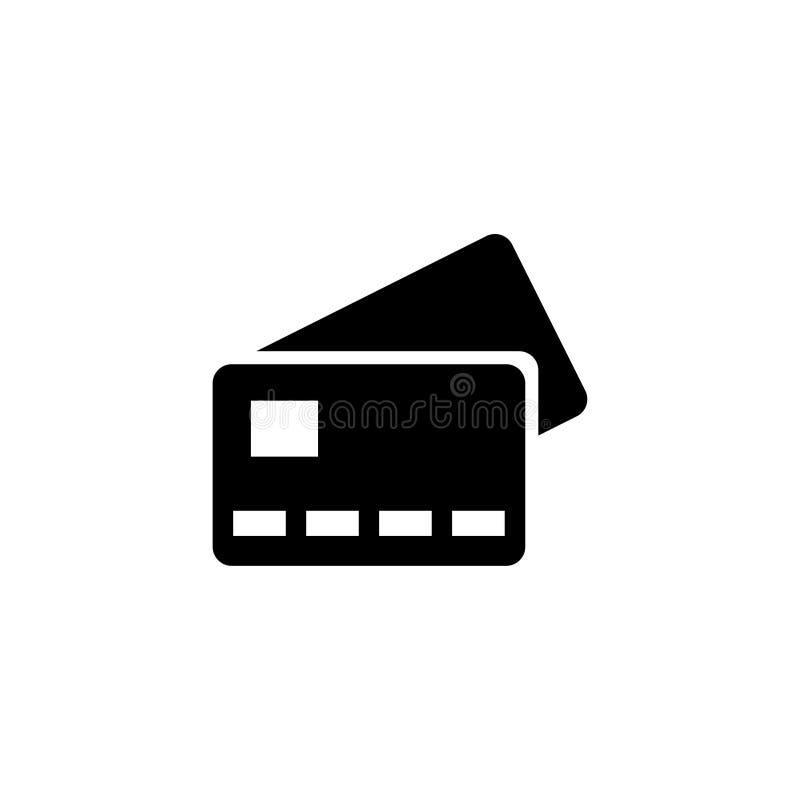 Bank Credit Card Flat Vector Icon stock illustration