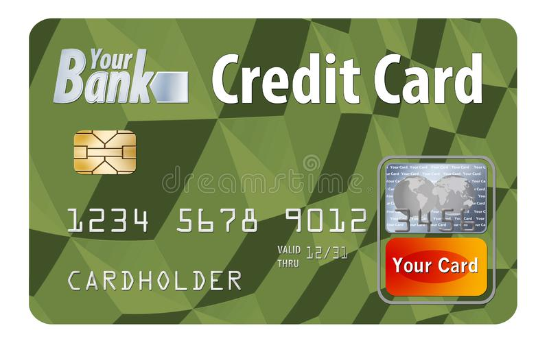 This is a bank credit card. It is an illustration with generic logos and type. vector illustration