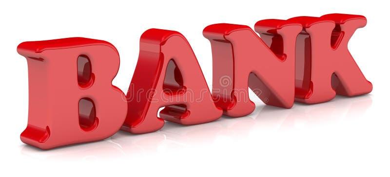 bank Czerwony s?owo royalty ilustracja