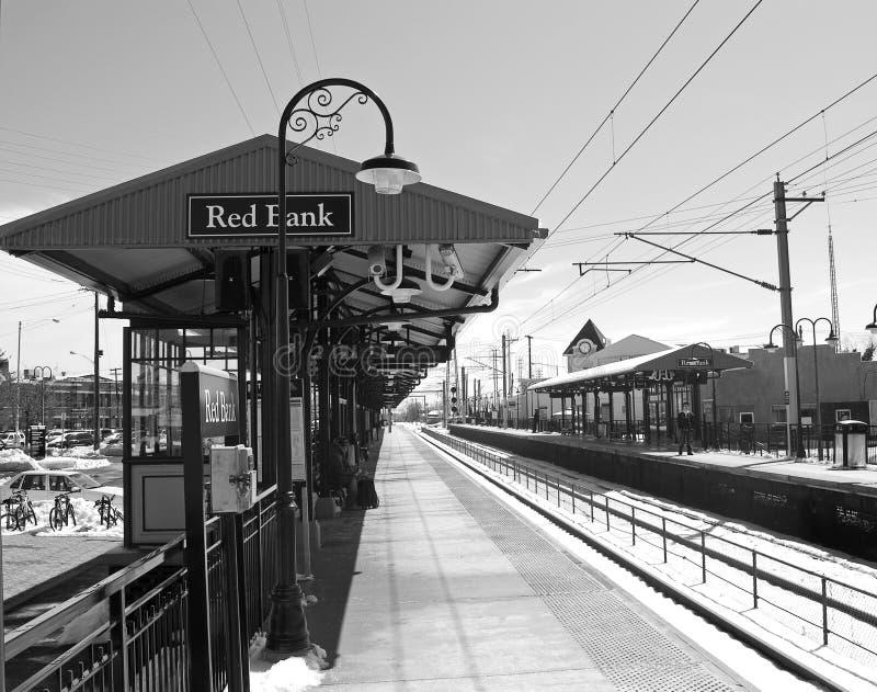 bank czerwonym stacji zdjęcie stock