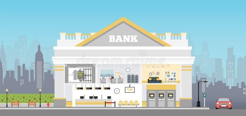 Bank de bouwbinnenland stock illustratie