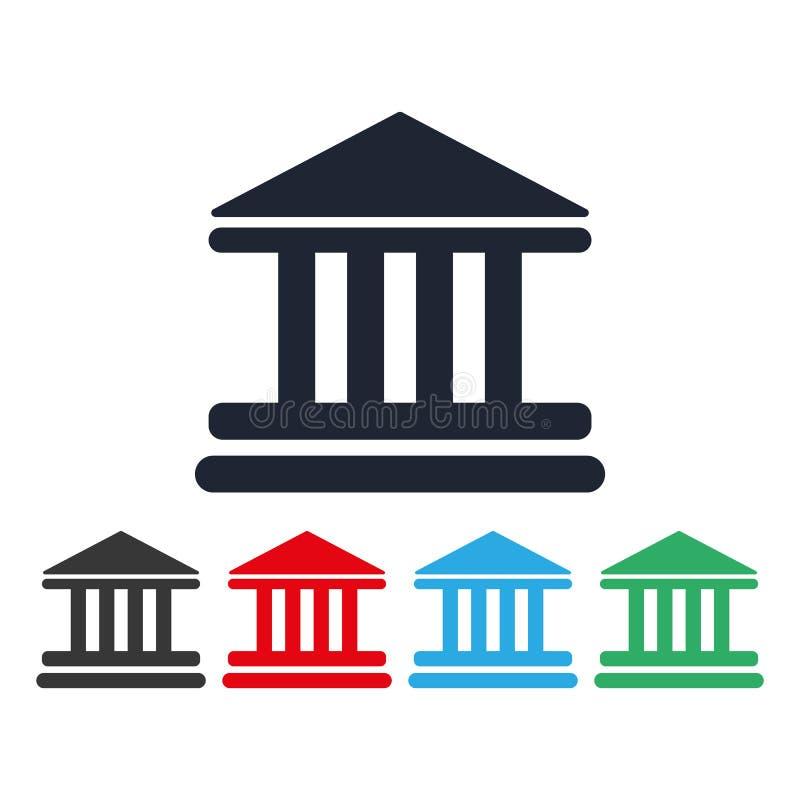 Bank de bouwpictogram vectoreps10 Vector illustratie hof die vectorpictogram bouwen vectorbank de bouwillustratie, stock illustratie