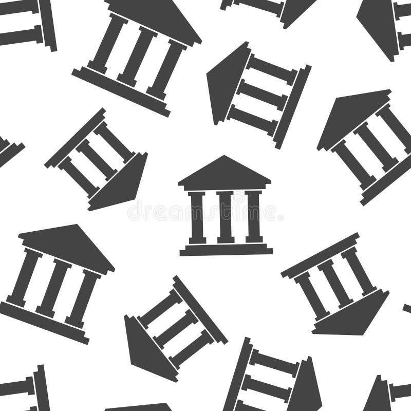 Bank die naadloze patroonachtergrond bouwen Bedrijfs vlakke vector vector illustratie