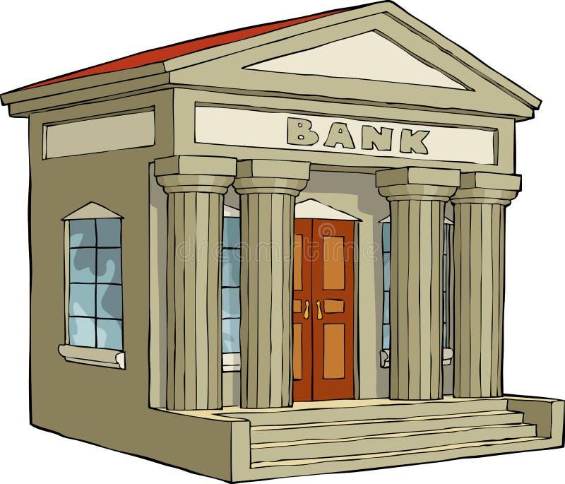 De bouw van de bank stock illustratie