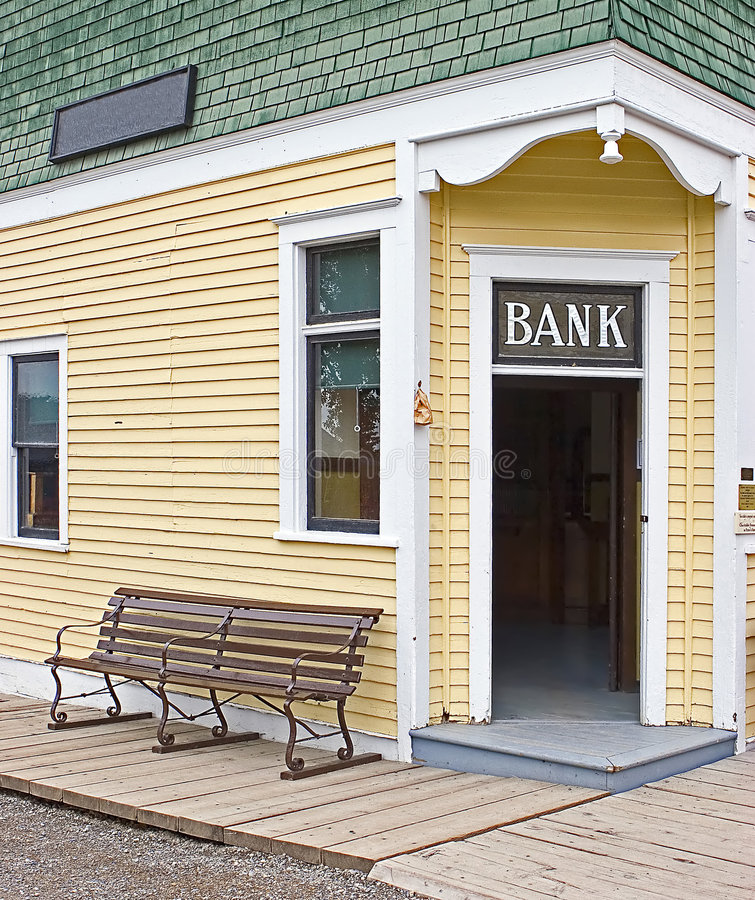 Download Bank Doorway stock image. Image of entrance, wooden, bench - 225743