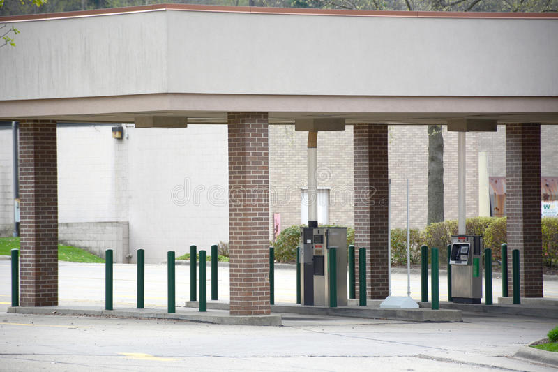 Bank drive through stock photo