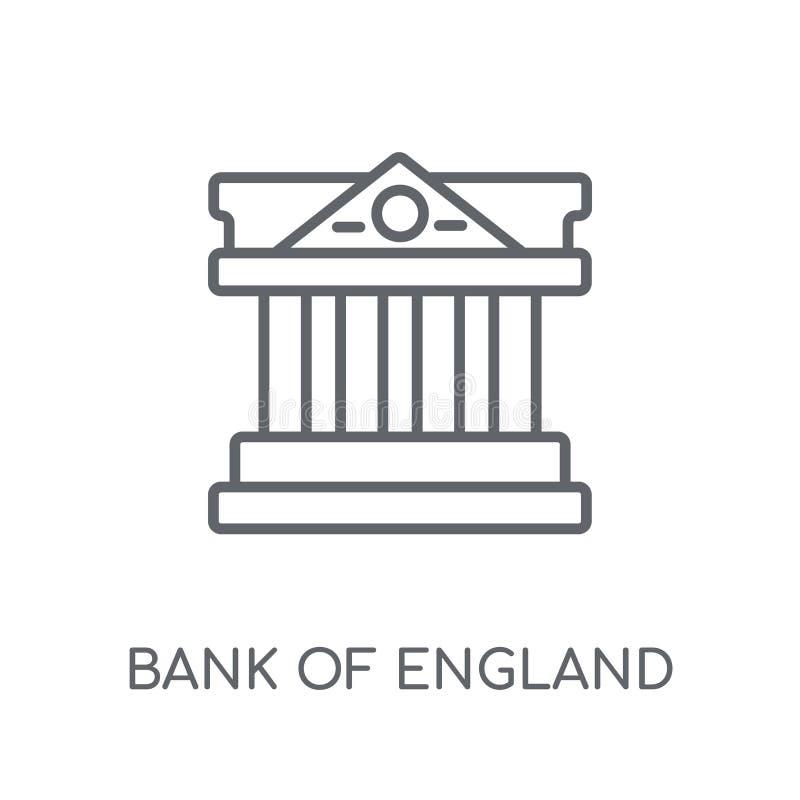 Bank of England linear icon. Modern outline Bank of England logo stock illustration