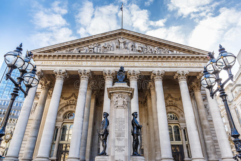 Bank of England in the morning. Spring stock photography