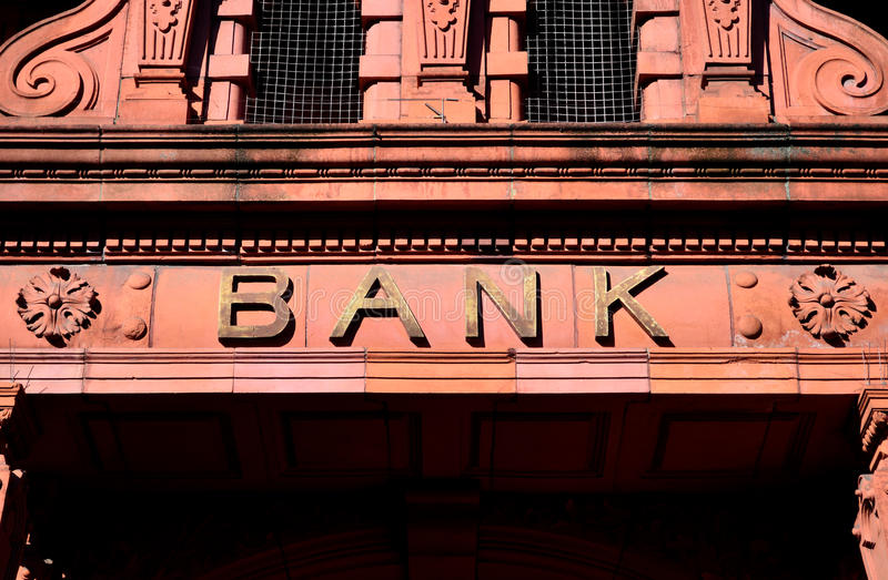 Bank Entrance stock image
