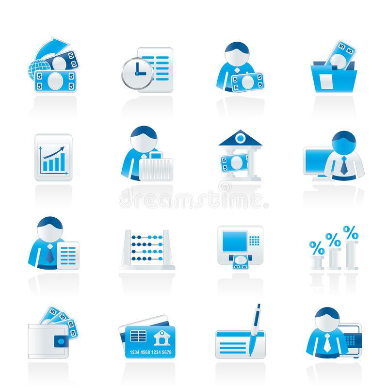 Download Bank And Finance Icons Stock Photography - Image: 22041782