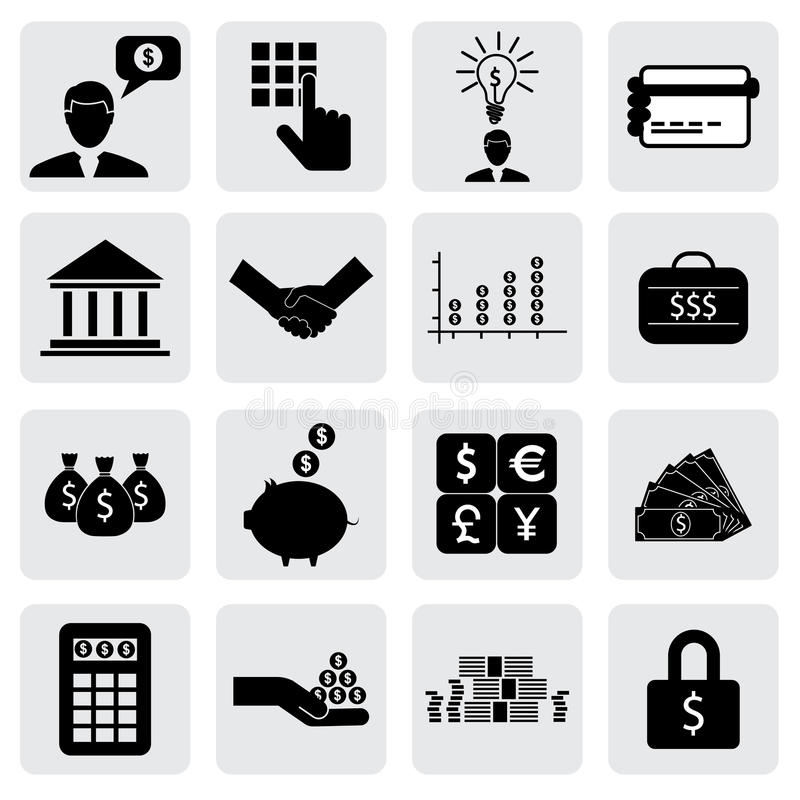 Download Bank & Finance Icons(signs) Related To Money, Wealth Stock Vector - Illustration of assets, cashier: 32286910
