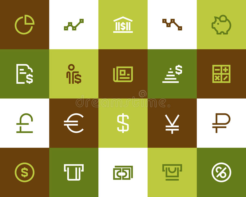 Bank and financial icons. Flat style. Banking and financial icons. Flat style vector illustration