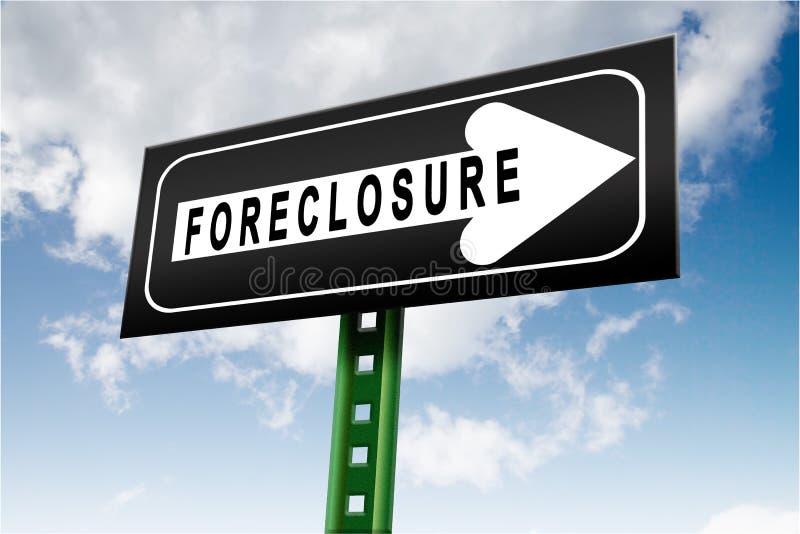 Bank foreclosure stock illustration