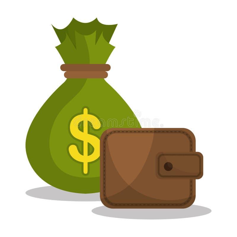 Bank, globale Wirtschaft und Geldspareinlagen vektor abbildung