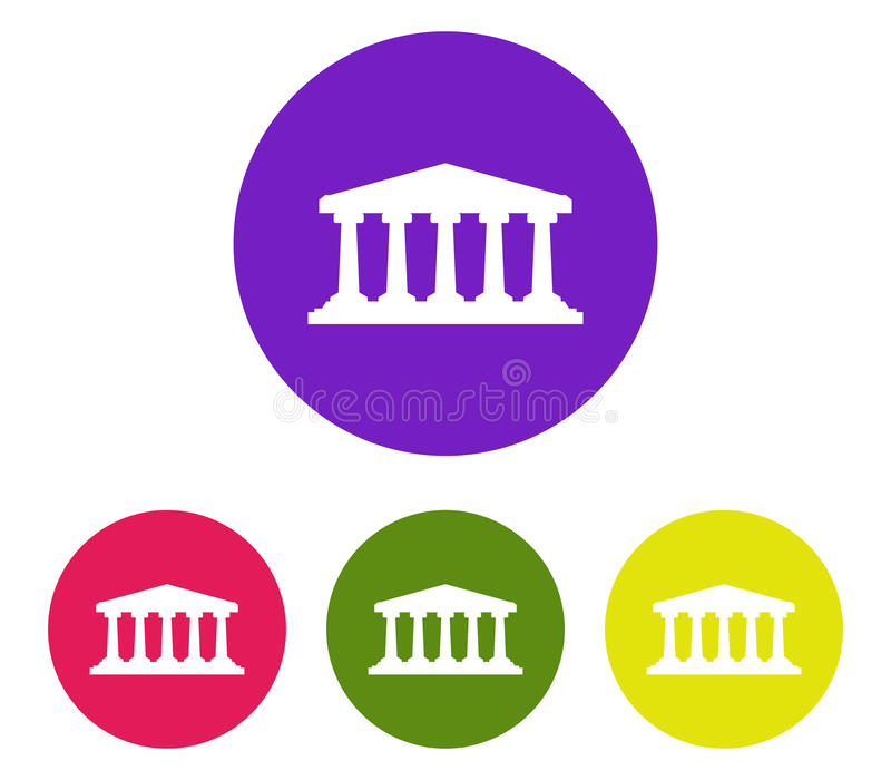 Bank icon illustration set royalty free illustration