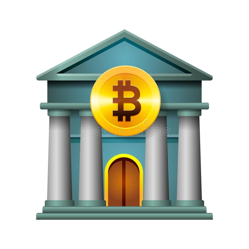 Bank Icon Modern Design Concept Of Cryptocurrency Technology