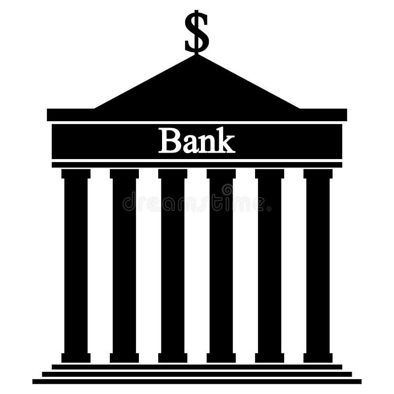 Bank icon. stock illustration. Illustration of corporation ...
