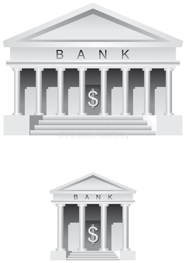Bank ikona symbol i royalty ilustracja