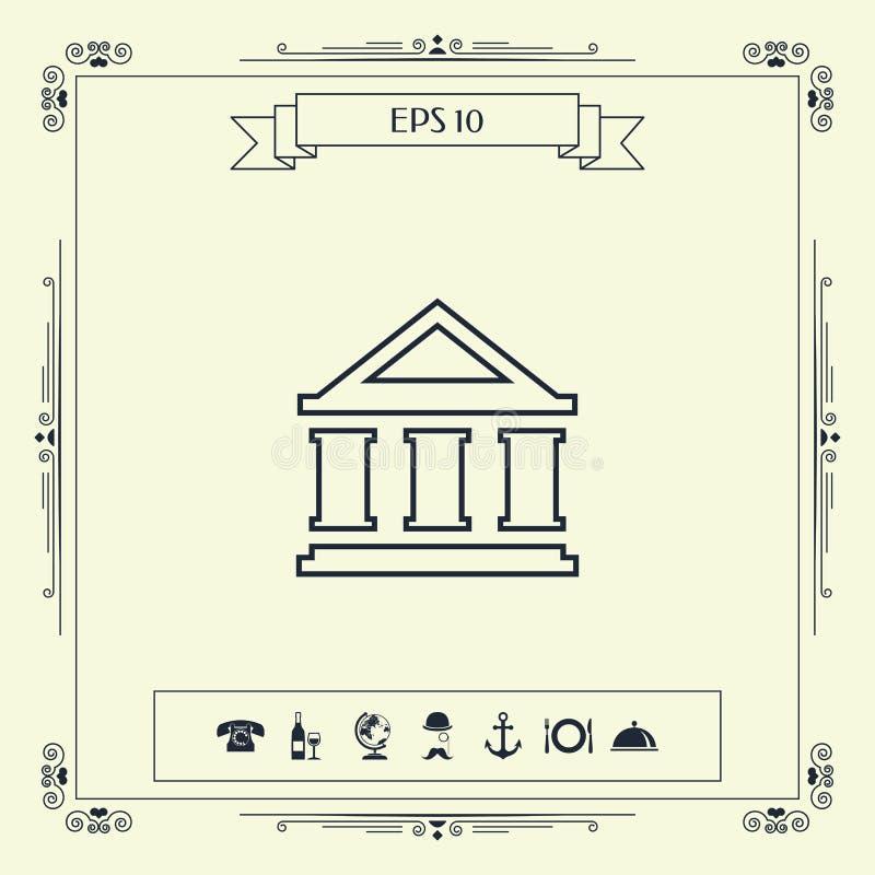 Bank linii ikona ilustracja wektor