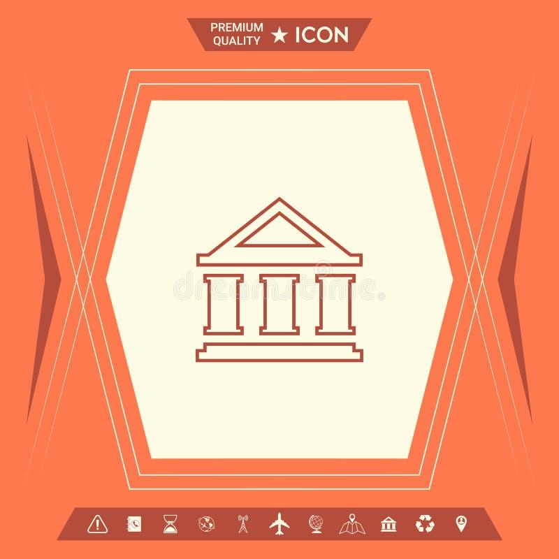 Bank linii ikona royalty ilustracja