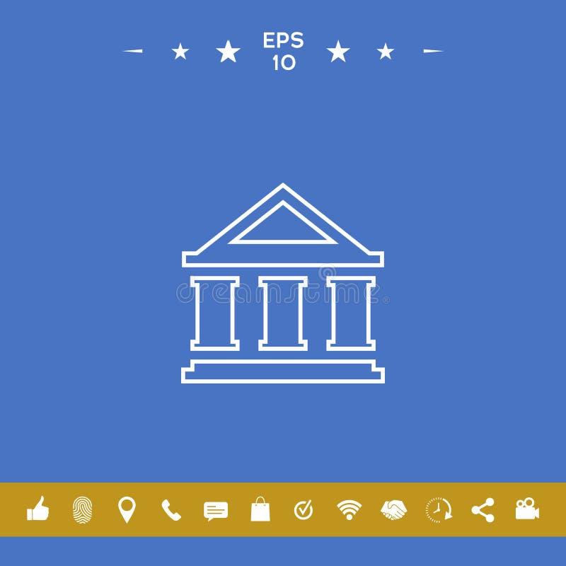 Bank linii ikona ilustracji