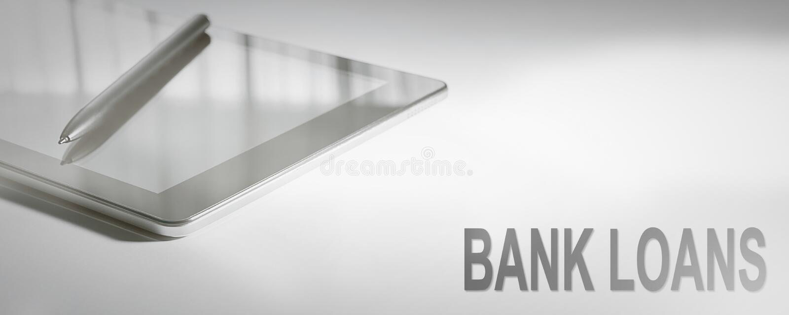 BANK LOANS Business Concept Digital Technology. Graphic Concept stock images