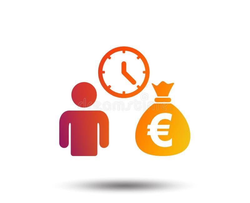 Bank loans sign icon. Get money fast symbol. Borrow money. Blurred gradient design element. Vivid graphic flat icon. Vector stock illustration