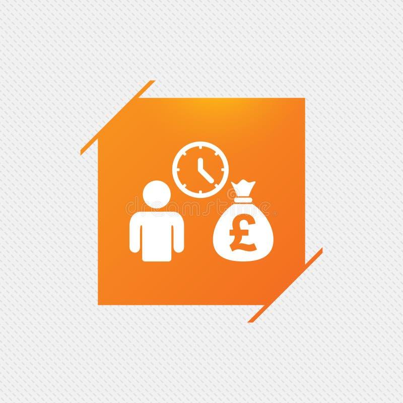 Bank loans sign icon. Get money fast symbol. Borrow money. Orange square label on pattern. Vector vector illustration
