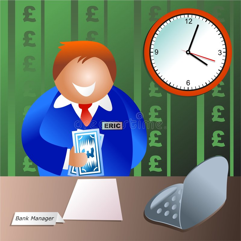 Bank manager stock illustration