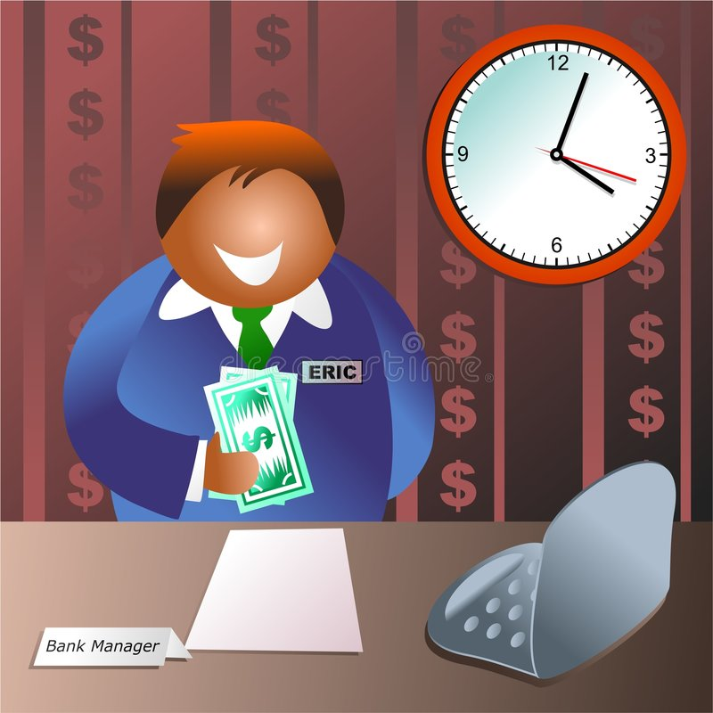 Bank manager royalty free illustration