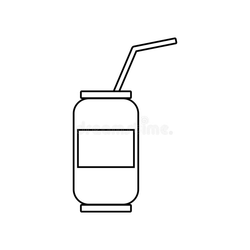Bank met een drankpictogram Element van het eten voor mobiel concept en webtoepassingenpictogram Overzicht, dun lijnpictogram voo vector illustratie