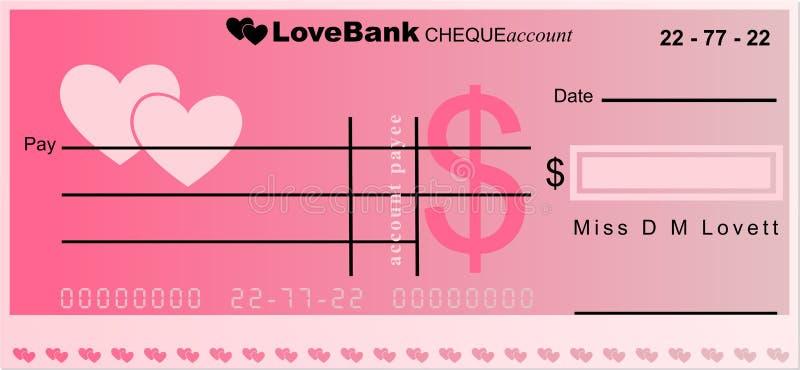 bank miłości ilustracja wektor