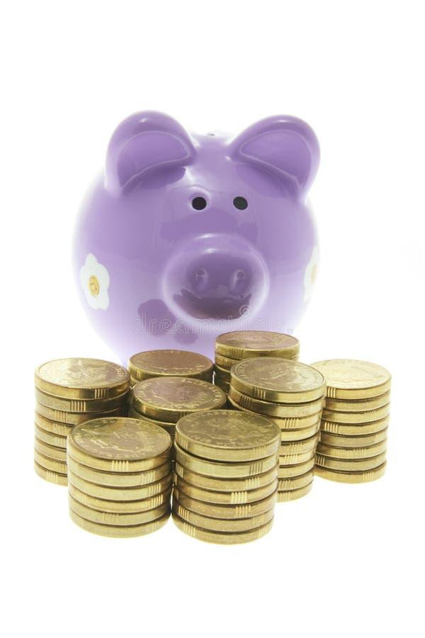 bank monety Świnka. obrazy royalty free