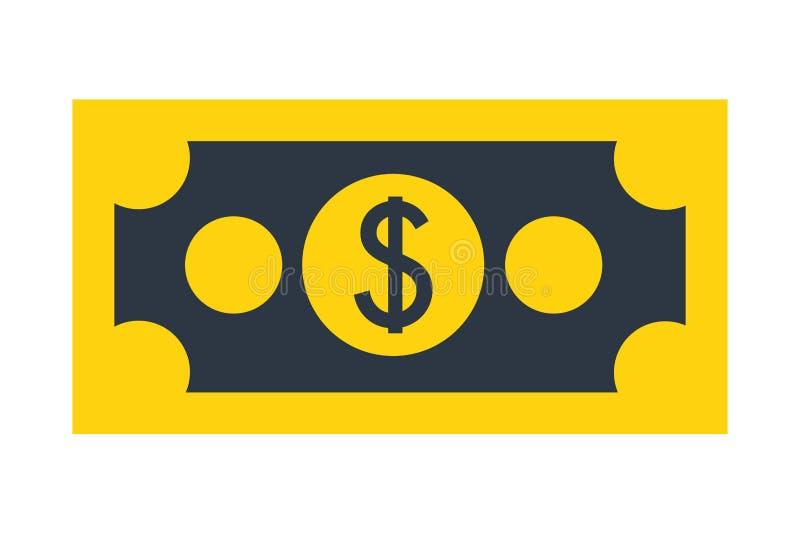 Bank money bill dollar chash. Vector illustration royalty free illustration