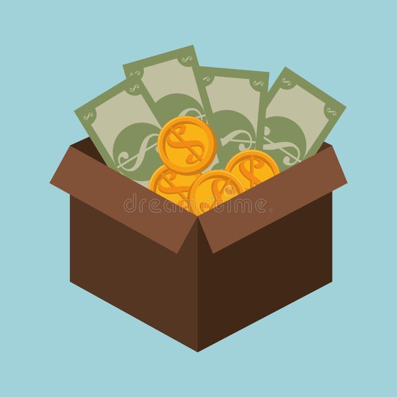 Bank, money and investment. Graphic design, illustration stock illustration