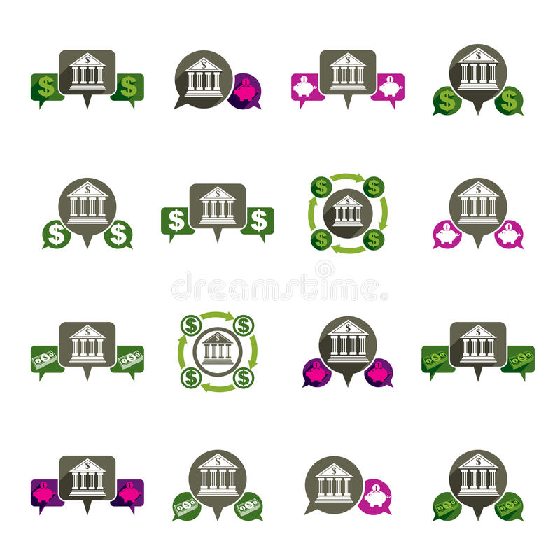 Download Bank And Money Theme Vector Unusual Icons Set, Financial Theme V Stock Vector - Illustration of interface, funds: 42209449