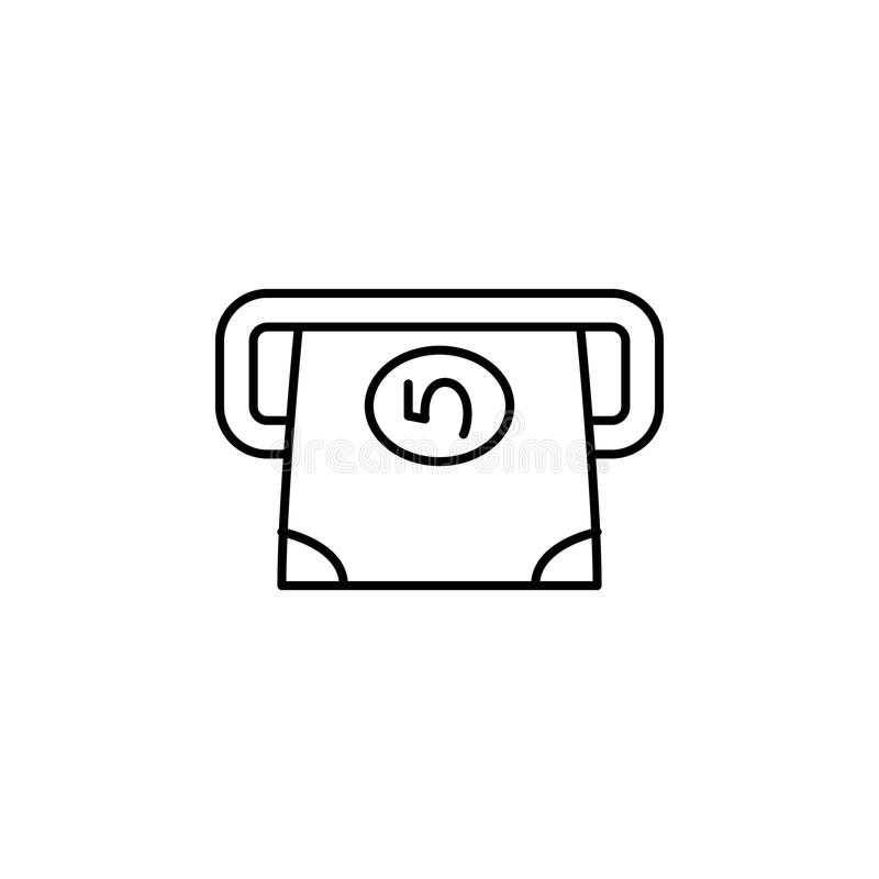 bank note icon. Element of simple icon for websites, web design, mobile app, info graphics. Thin line icon for website design and stock illustration