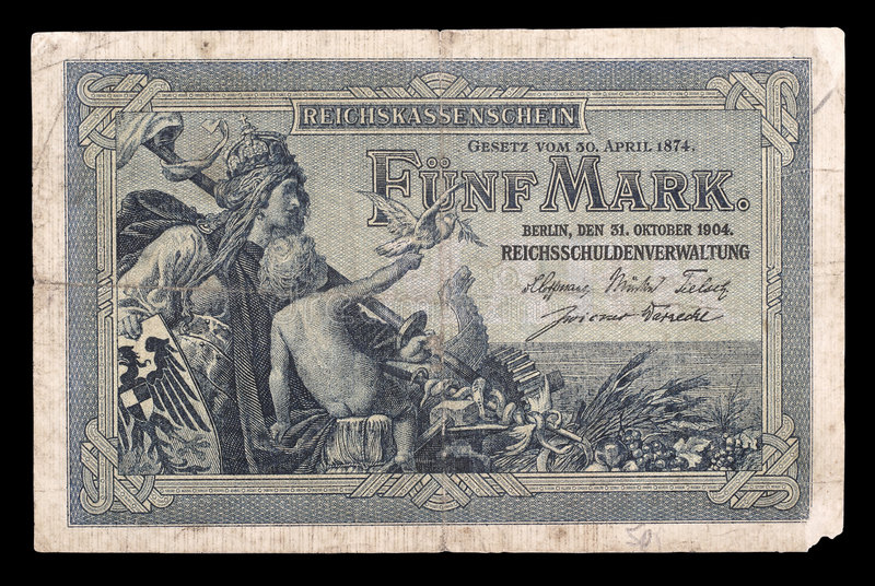 Download Bank Note Of Keiser Germany. 1904. Obverse. Stock Image - Image: 8897801