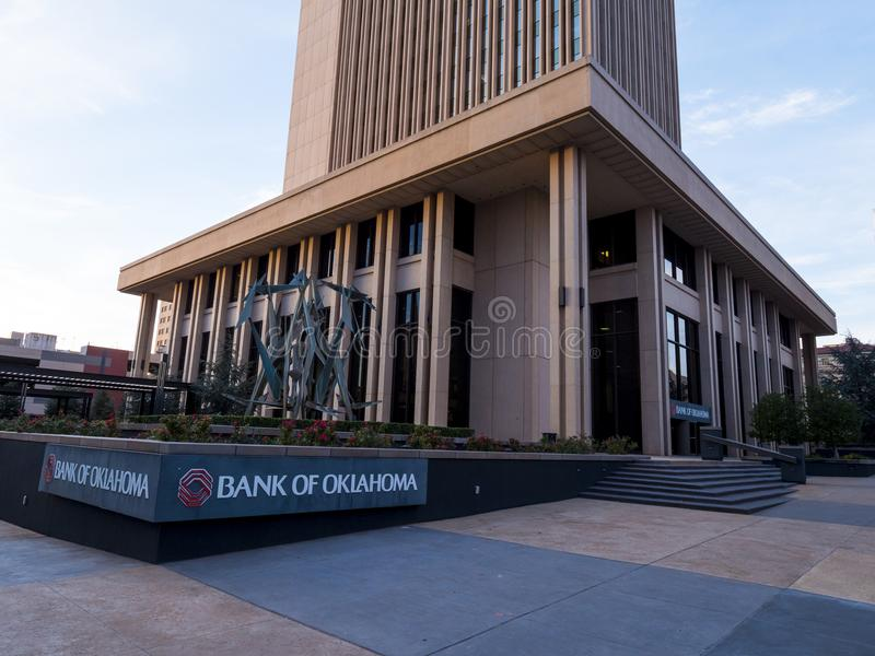 Bank of Oklahoma Headquarter at Downtown Oklahoma City - OKLAHOMA CITY - OKLAHOMA - OCTOBER 18, 2017 stock photos