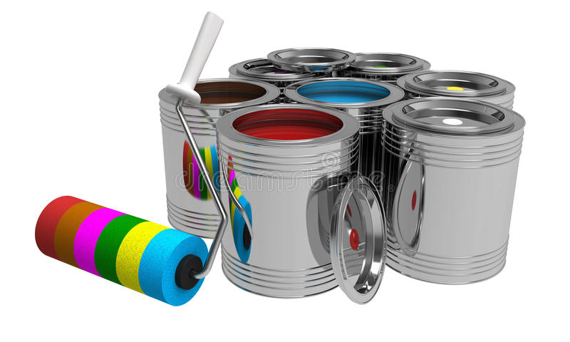 Download Bank with paints stock illustration. Image of bright - 21704043